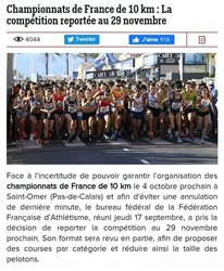 REPORT CHANPIONNATS DE FRANCE 10KM
